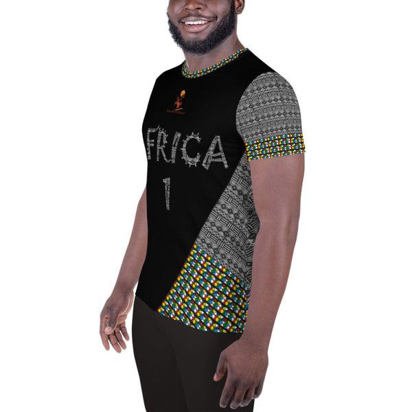 African Zulu-Mud Cloth Men's Athletic Jersey