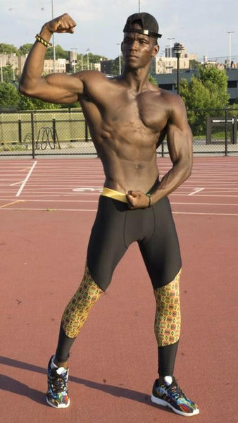 Men's Kente Fitness Leggings