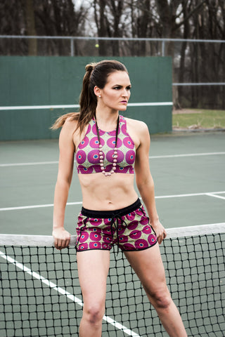 African Print Fitness Shorts
