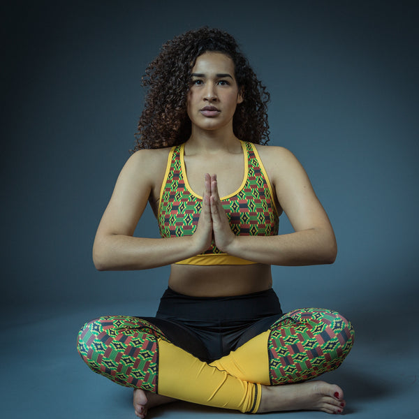 RuvaAfricWear Kente Print Yoga Pants/Leggings