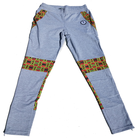 Unisex Slim Fit Kente Joggers/Sweat Pants