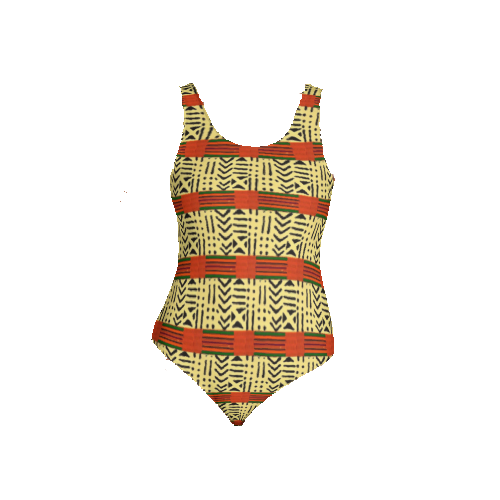 Kente Fusion One-Piece Swimsuit/Bodysuit