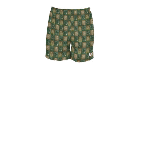 Nzou (Elephant) Print Men's Athletic Shorts