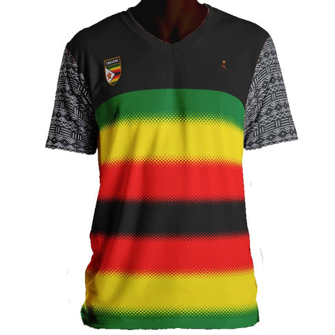Zimbabwe Mud Cloth Sleeves Jersey