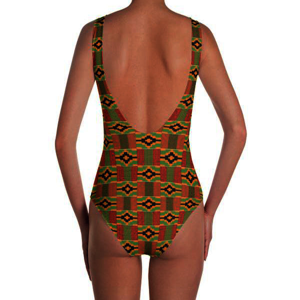 Afrobeats and Chill One-Piece Swimsuit - Kente Print