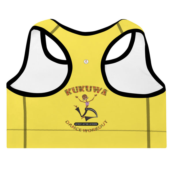 Move Your Boombsey Padded Sports Bra (Yellow)