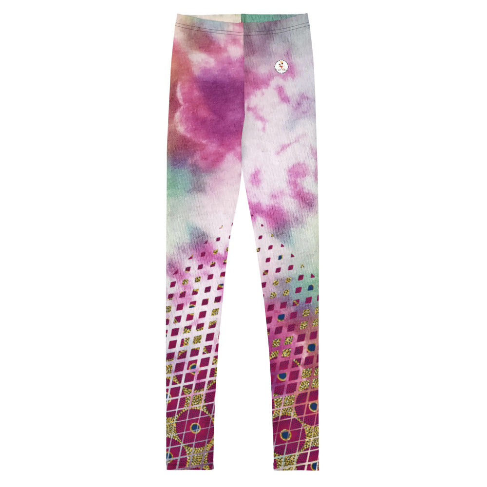 Tie & Dye Ankara Print Youth Leggings