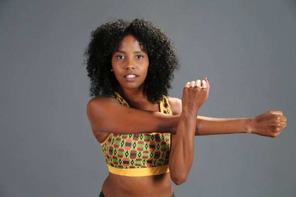 RuvaAfricWear Kente Sports Bra