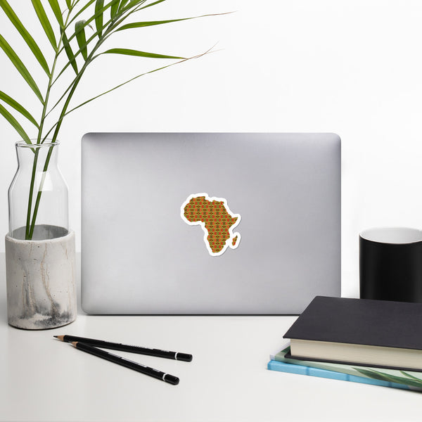 African Map Kente Bubble-free stickers