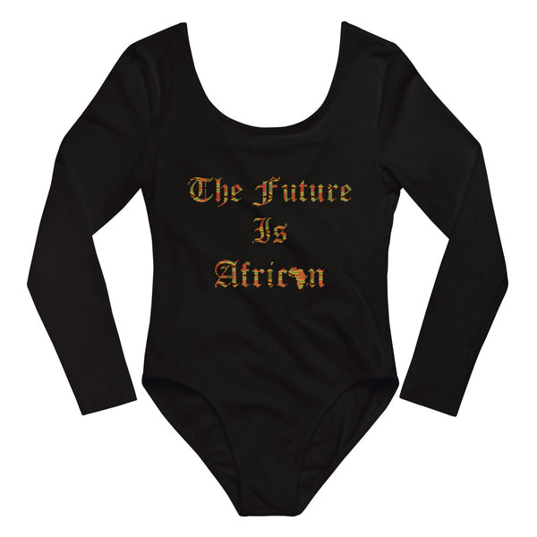 The Future is African Kente Print Long Sleeve Bodysuit