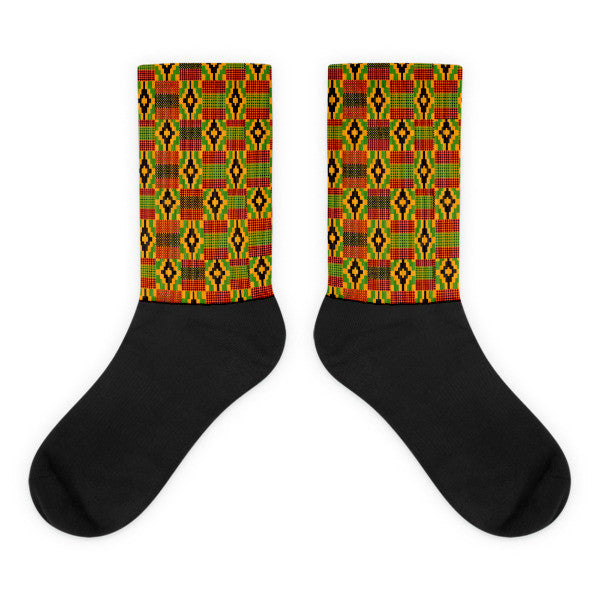 Kente foot socks style #2