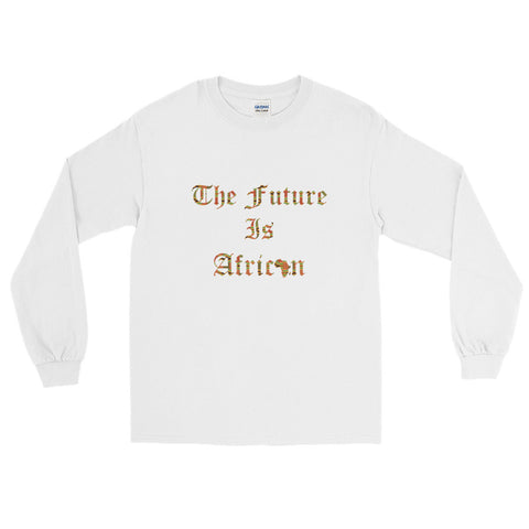 The Future is African Kente Print Long Sleeve T-Shirt