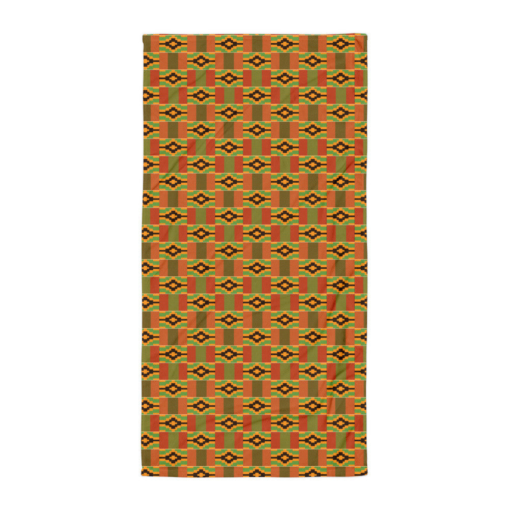 Kente Print Beach Towel/Blanket
