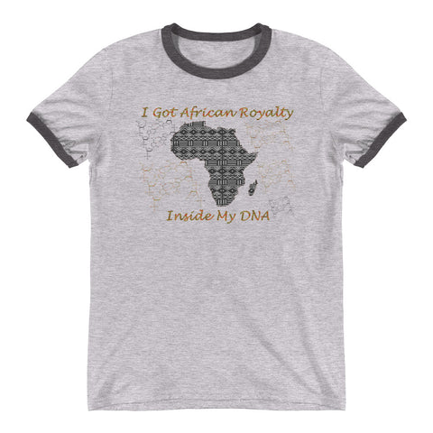 African Royalty DNA Ringer T-Shirt