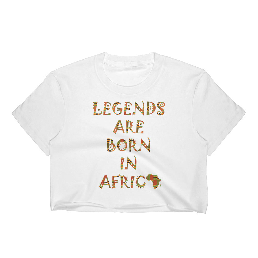 Legends Are Born in Africa Kente Print Women's Crop Top
