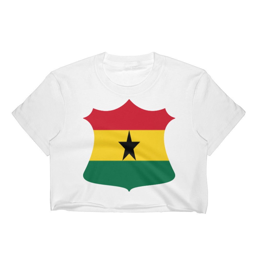 Ghana Crest Badge Women's Crop Top