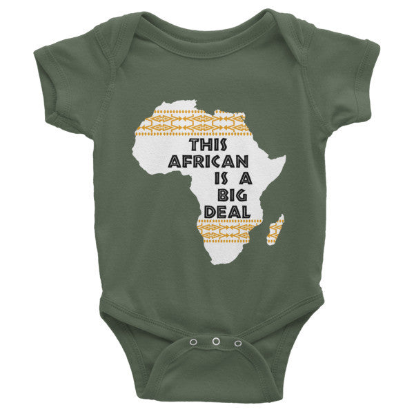 This African is A Big Deal - Infant short sleeve one-piece