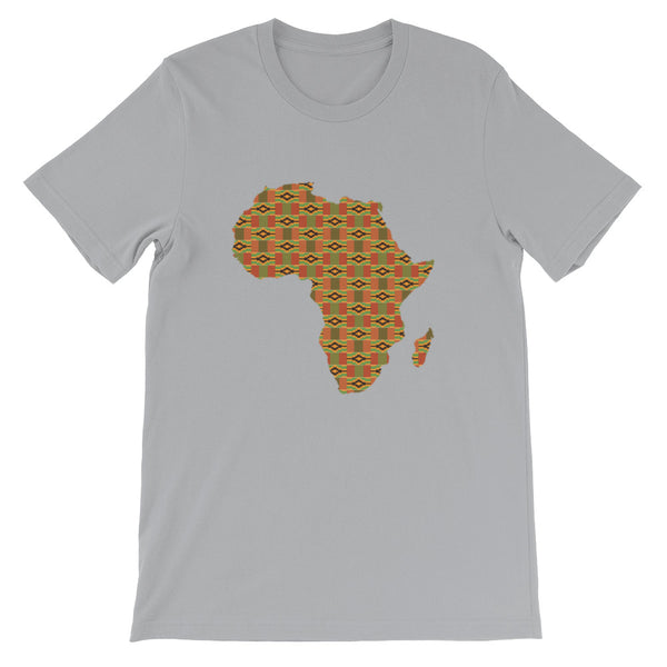 African Map Kente Print Short-Sleeve Unisex T-Shirt