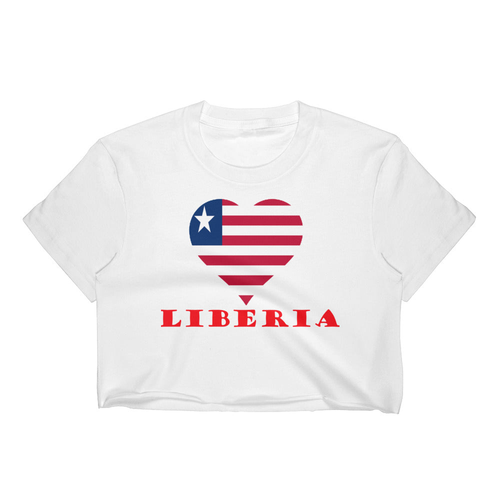 Liberia Love Women's Crop Top