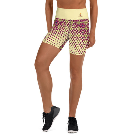 Ankara Square Scatter Yoga Shorts