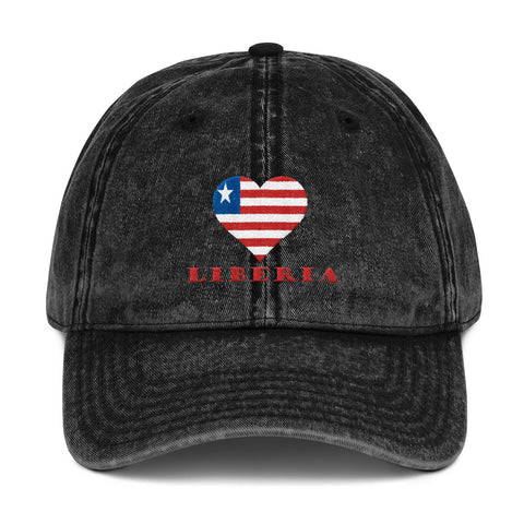 Liberia Love Vintage Cotton Twill Cap