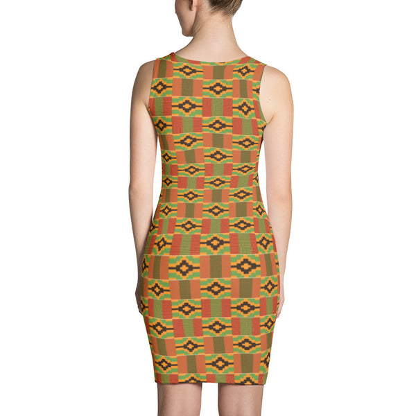 Kente Bodycon Party Dress