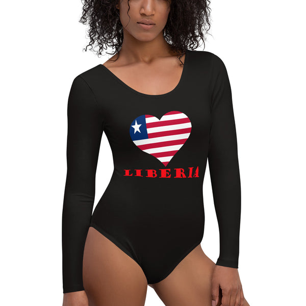 Love Liberia Long Sleeve Bodysuit