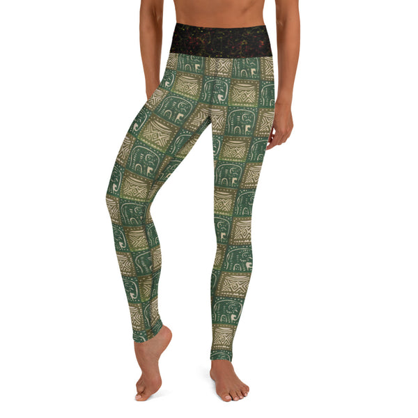 Nzou (Elephant) Print Yoga Leggings