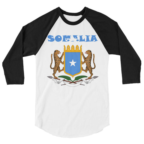 Somalia Coat of Arms 3/4 sleeve raglan shirt