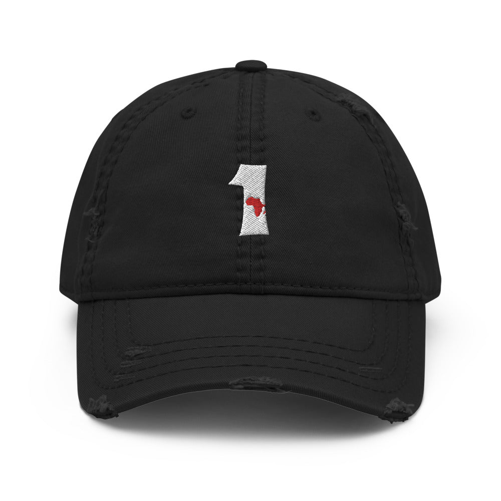 Africa Number 1 Distressed Dad Hat