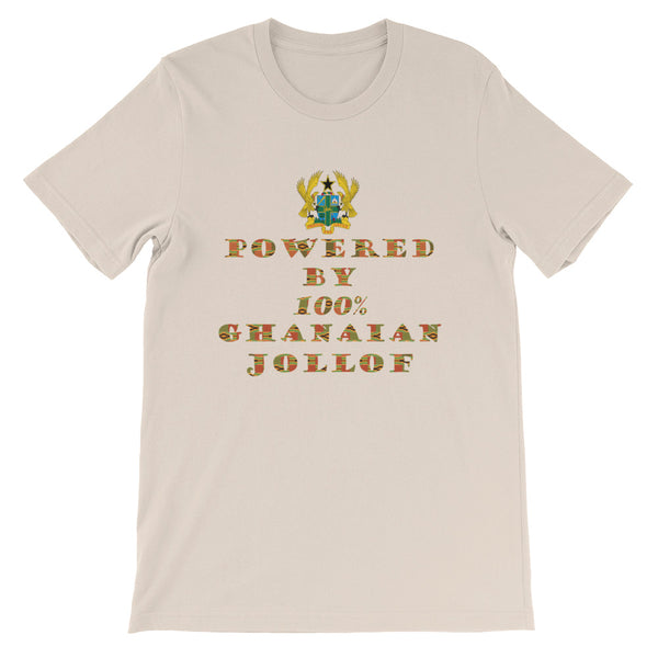 Powered by Ghanaian Jollof Unisex T-Shirt