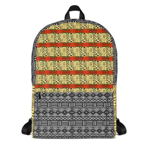 Kente & Mud Cloth Fusion Backpack