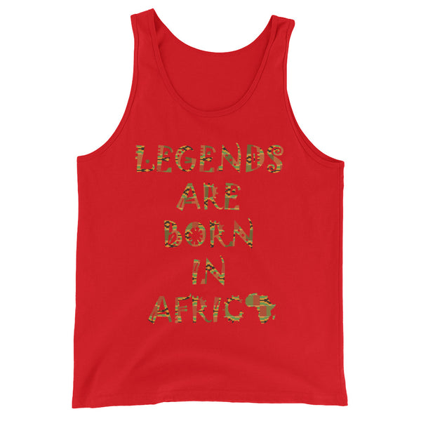 Legends Are Born in Africa Unisex Tank Top