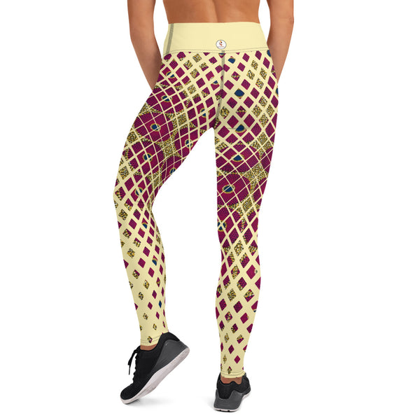 Ankara Square Scatter Yoga Leggings