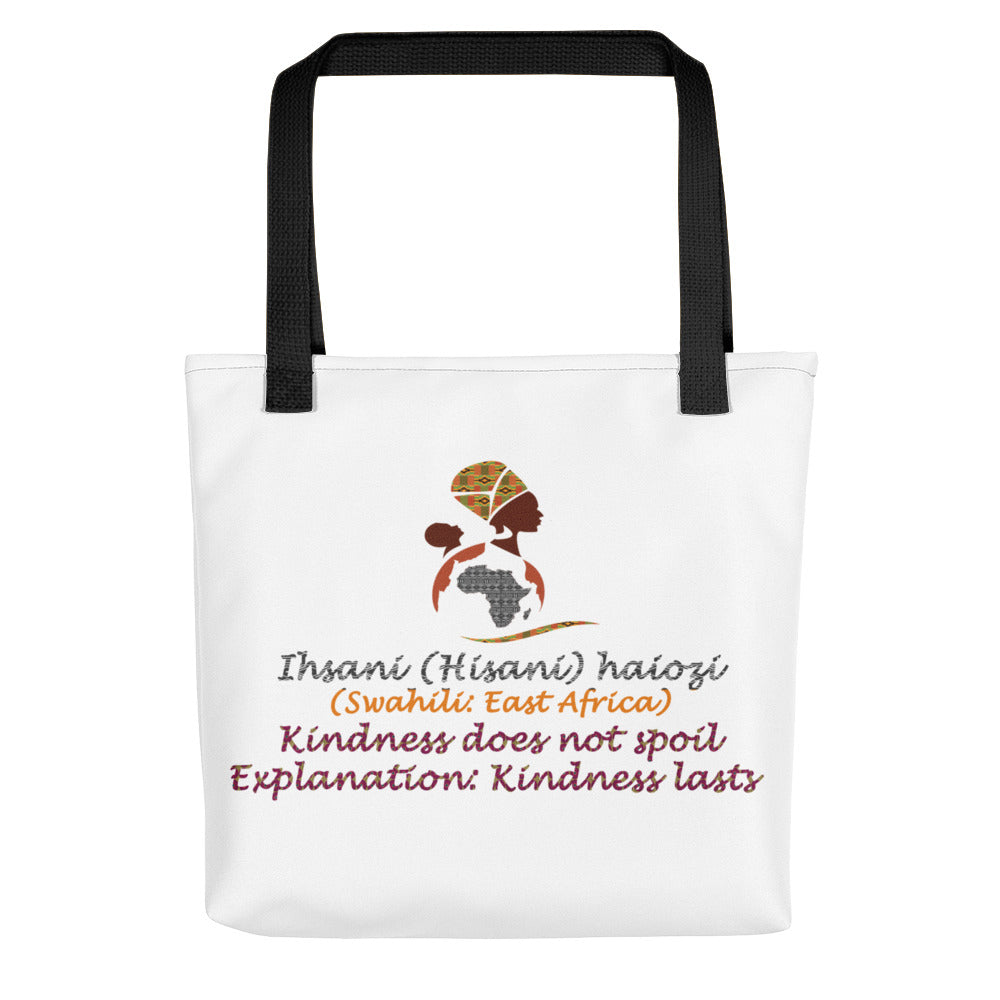 Swahili Proverb Tote bag
