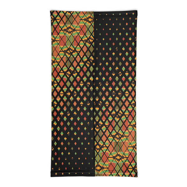Kente Scattered Squares Neck gaiter
