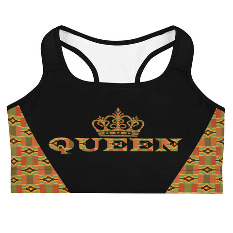 Queen Kente Print Sports bra