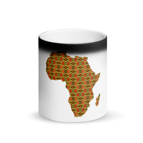 African Map Magic Mug