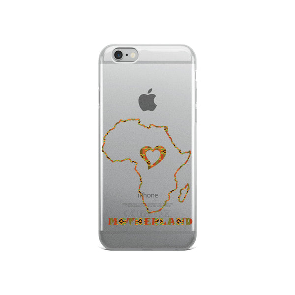 Heart Motherland African Map iPhone Case