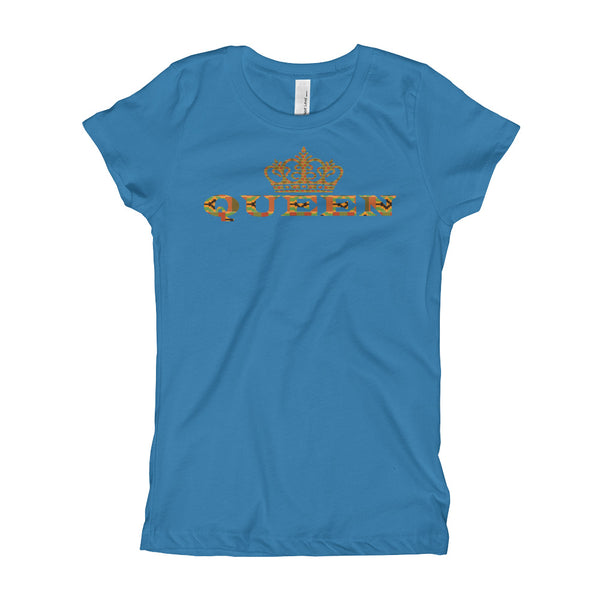 Queen Kente Print Girl's T-Shirt