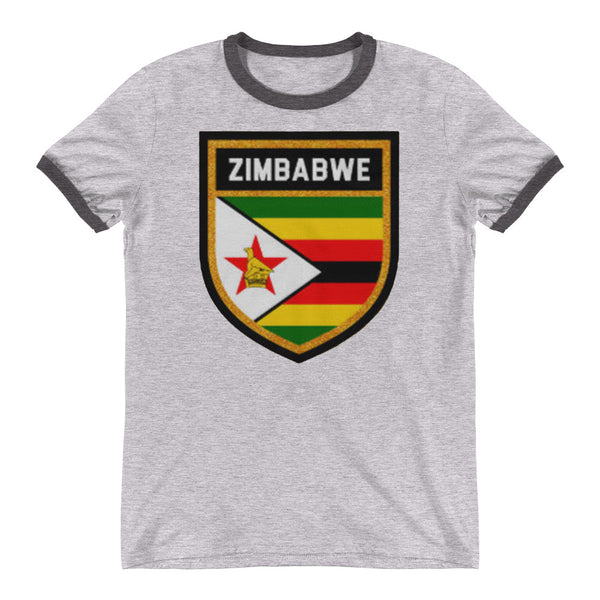 Zimbabwe Badge Ringer T-Shirt