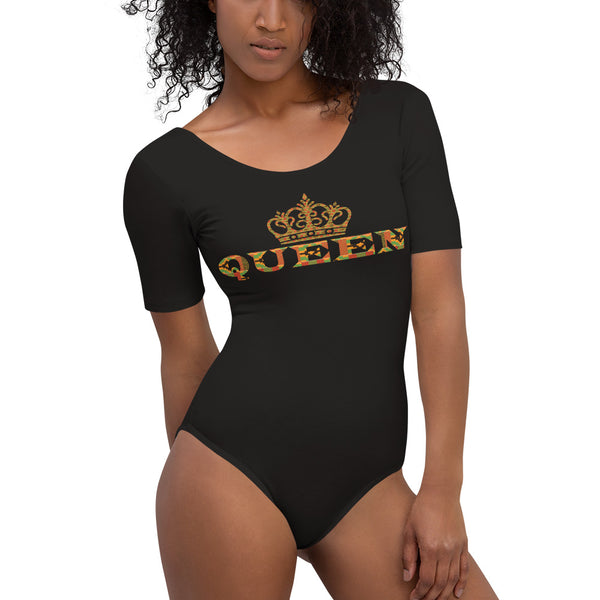Queen Kente Print Short Sleeve Bodysuit