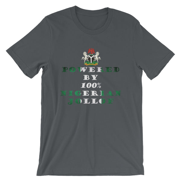 Powered By Nigerian Jollof Rice Unisex T-Shirt