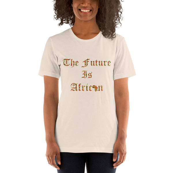 The Future is African Kente Print Short-Sleeve Unisex T-Shirt