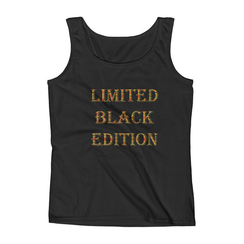 Limited Black Edition Kente Print Ladies Tank