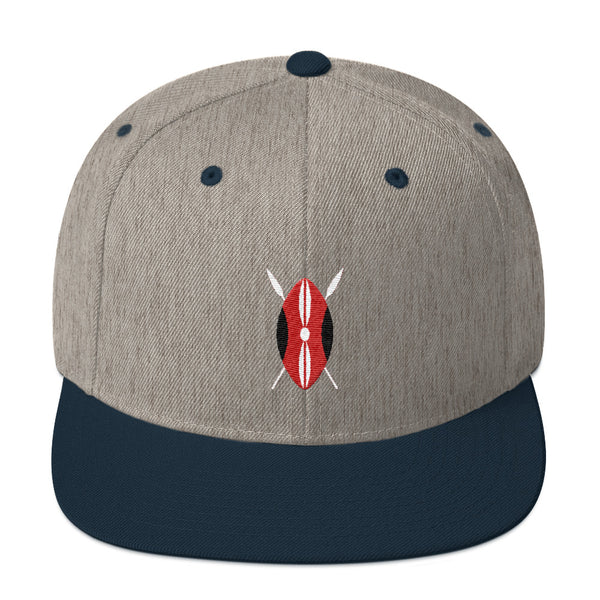 Kenyan Shield Snapback Hat