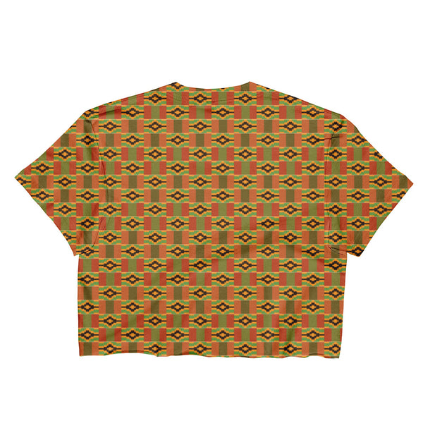 Afrobeats and Chill Ladies Crop Top - Kente Print