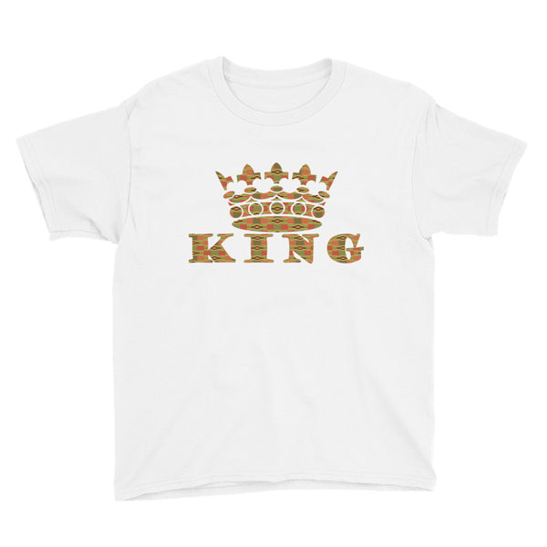 King Kente Print Boy's Short Sleeve T-Shirt