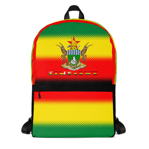 Zimbabwe Flag and Coat of Arms Backpack