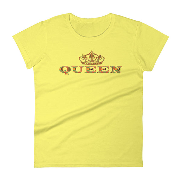 Queen Kente Print Women's short sleeve t-shirt